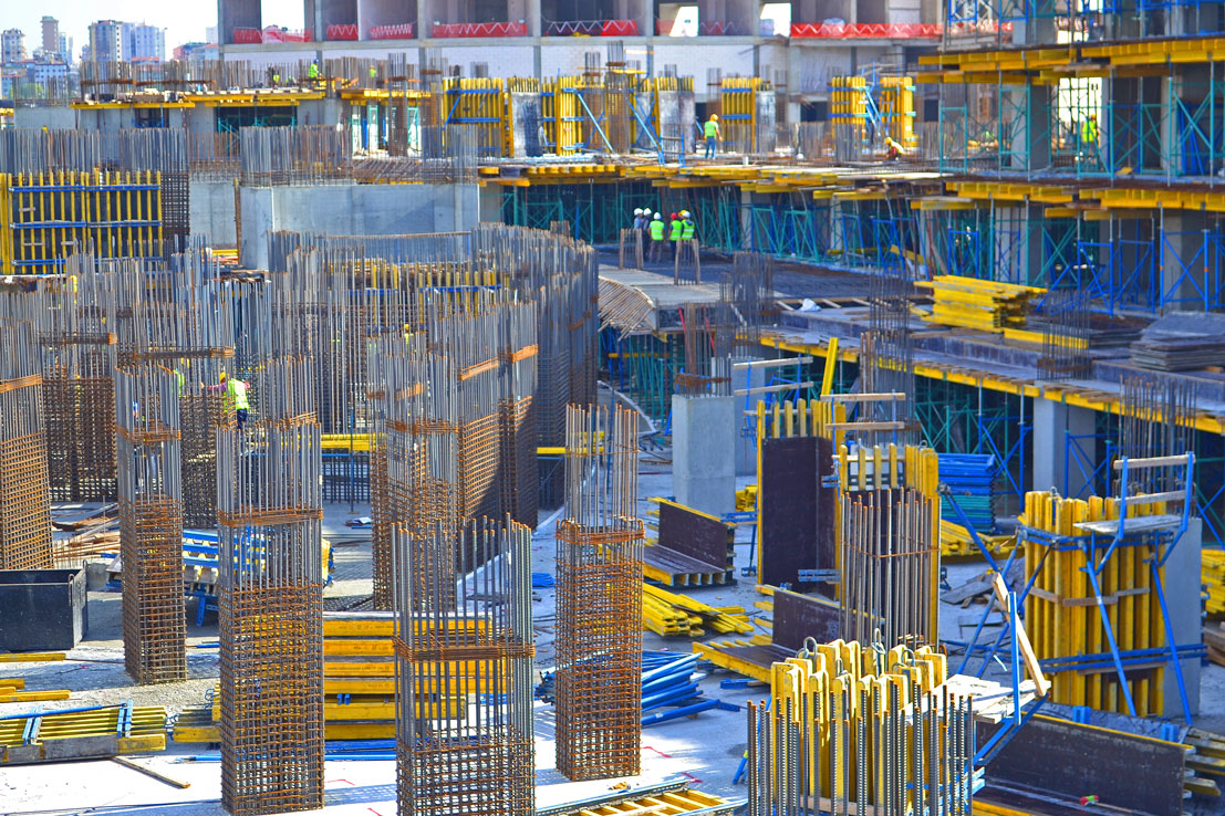 steel deformed bars used for construction of a building