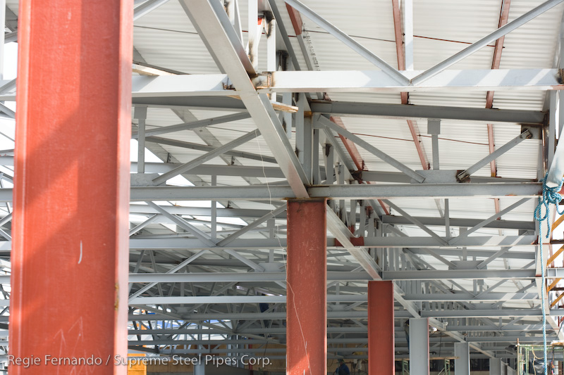 steel roof and frames