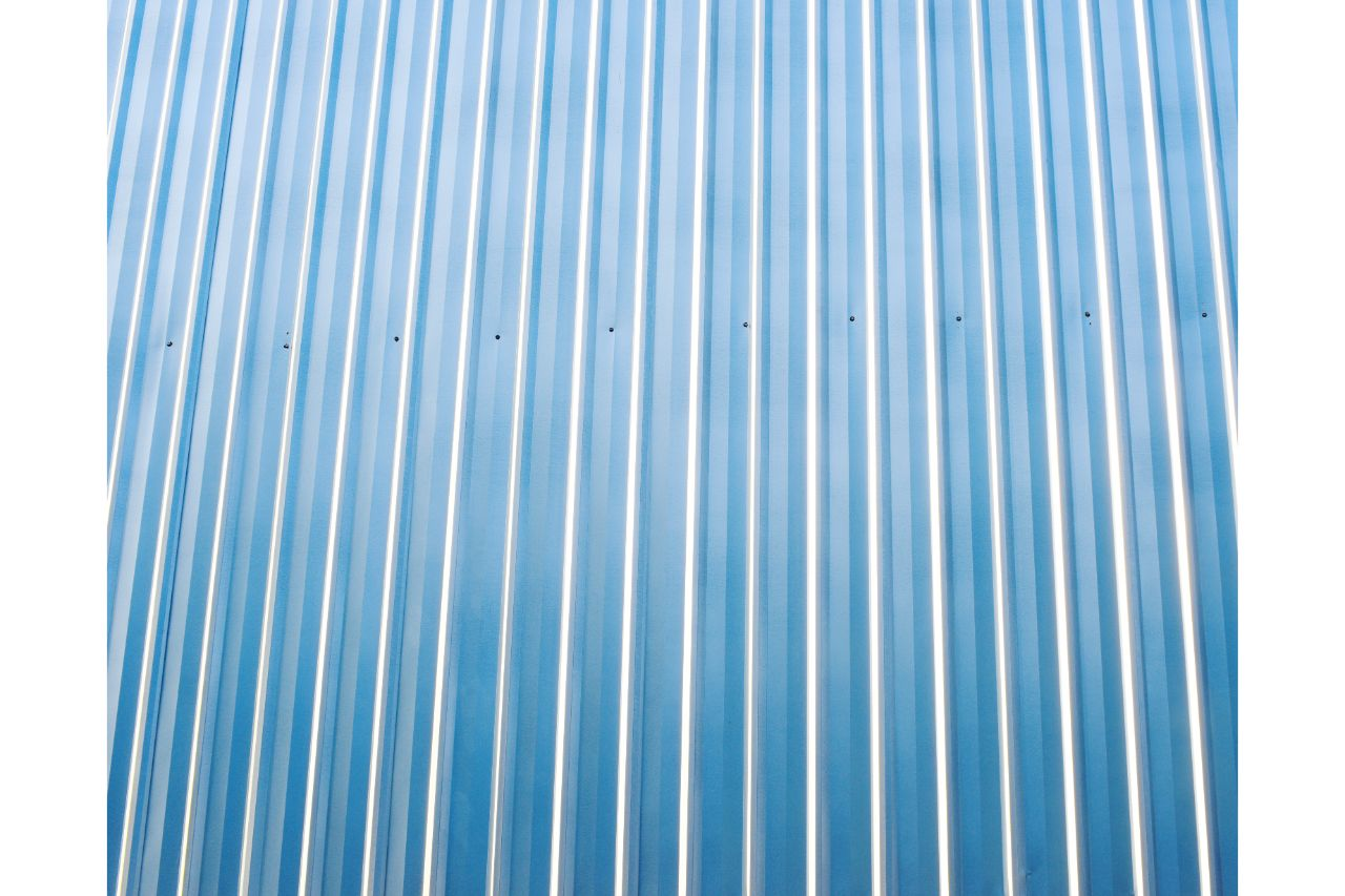 Corrugated metal roof